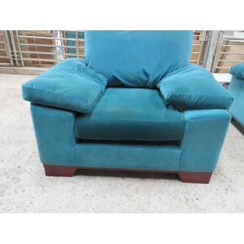 26 - Plush Velvet Upholstered Designer Armchair Generous Form
