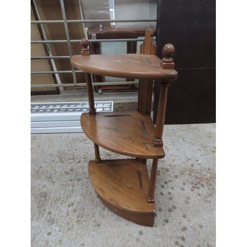 29 - Ercol Three Tier Corner What Not Designers of Very High Quality Dining, Living, Bedroom and Home Off...