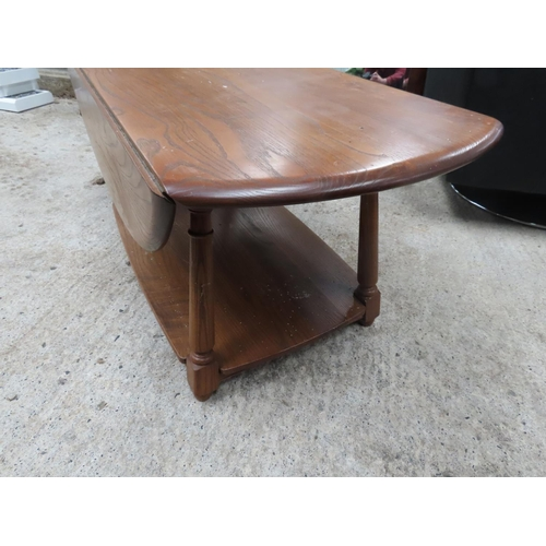 31 - Ercol Drop Leaf Coffee Table Good Construction Approximately 42 Inches Long