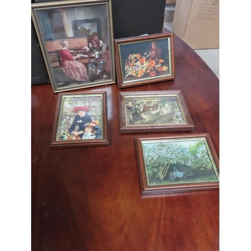 Five Vintage Framed Pictures