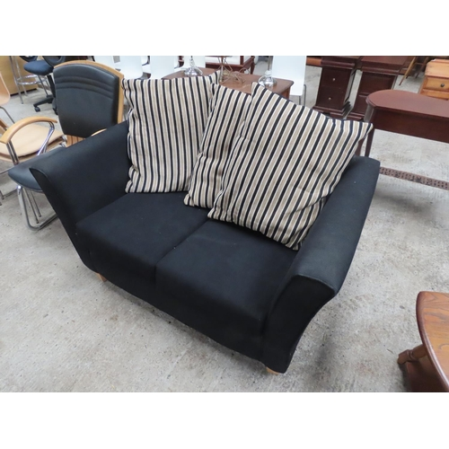48 - Modern Upholstered Two Seater Settee