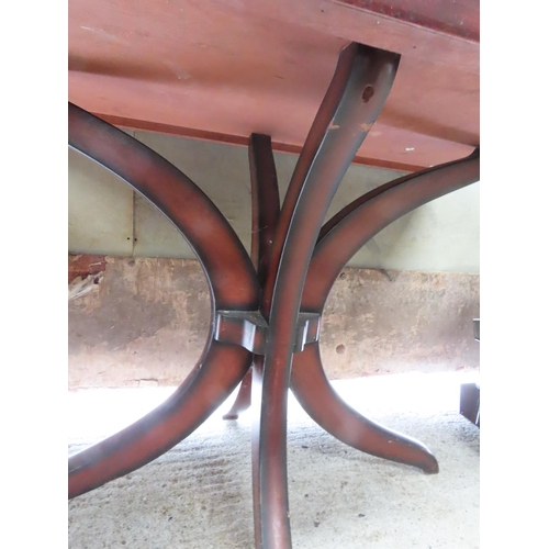 5 - Modern Hardwood Rectangular Form Table Approximately 30 Inches High x 3ft 2 Inches Wide