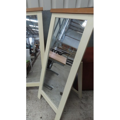 50 - Free Standing Cheval Mirror Modern Design Approximately 5ft 8 Inches High. Please Note Matching Lot ...