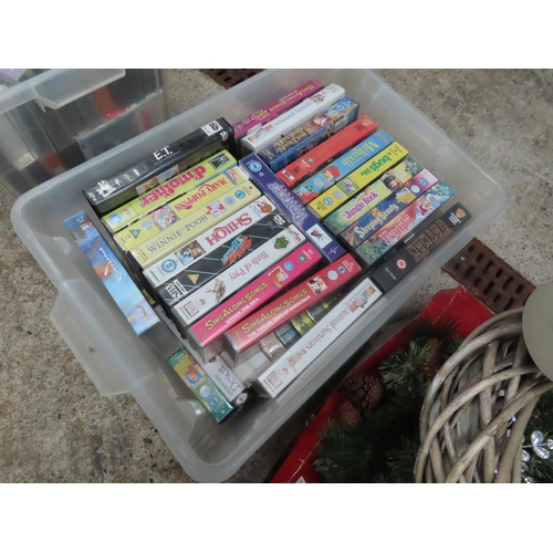 56 - Two Boxes of Various VHS Cassette Films Quantity As Photographed