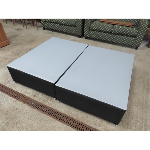 58 - Good Quality Modern Double Bed Base to Fit Mattress 5ft 6 Inches with Drawers