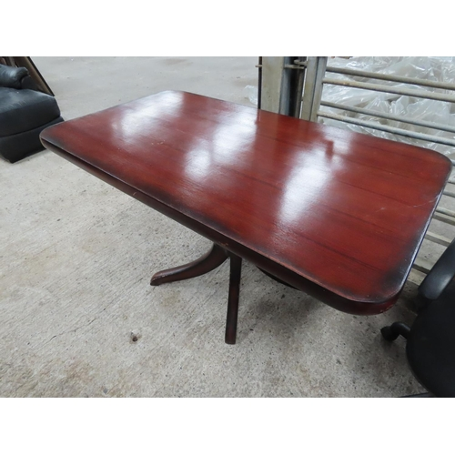 6 - Another Similar Modern Hardwood Rectangular Form Table Approximately 30 Inches High x 3ft 2 Inches W...