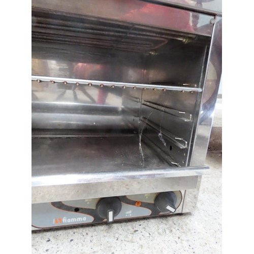 8 - Counter Top Sandwich Toaster Grill Electrified Approximately 34 Inches Wide Chrome Plated Lightly Us...