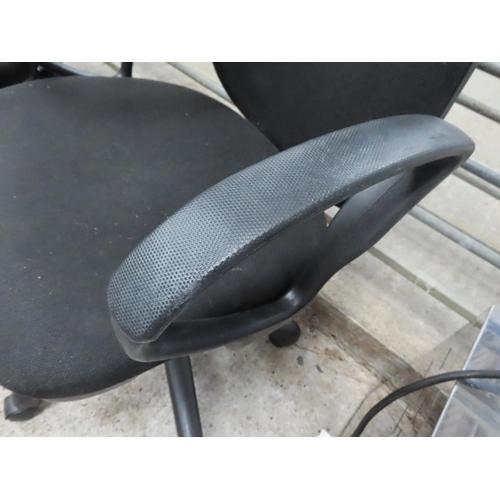 9 - Modern Upholstered Office Armchair Swivel Base