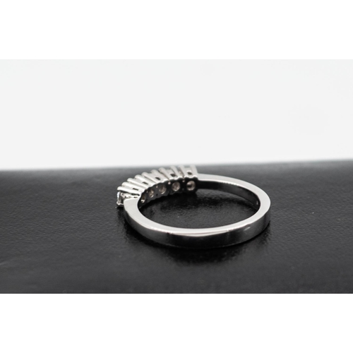 12 - 5 Stone Ladies Diamond Ring Mounted on 18 Carat White Gold Diamonds of Good Bright Clear Colour Ring...