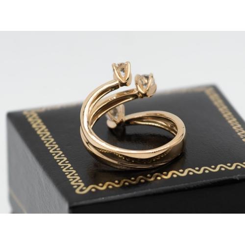 14 - Boodles Design Three Stone Diamond Ladies Ring Mounted on 18 Carat Yellow Gold Diamond Weight Approx...