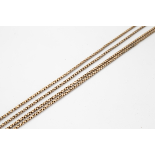 24 - Pinchbeck Longchain with 9 Carat Gold Half Bolt Ring Clasp Necklace 73cm Long
