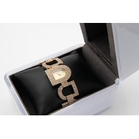 DKNY Ladies Designer Wristwatch Interlinking Form Contained within Presentation Box