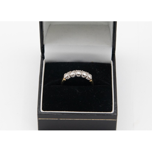 42 - 18 Carat Gold Mounted Five Stone Diamond Ring by Fred Ullmann Row of Brilliant Cut Diamonds Claw Set...