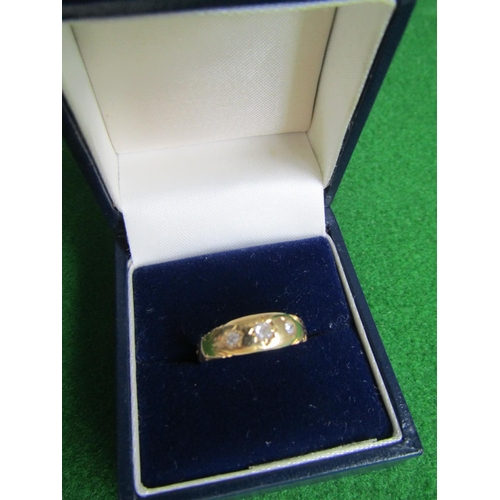 55 - 18 Carat Yellow Gold Ladies Single Stone Diamond Ring with Decorated Surround Ring Size S