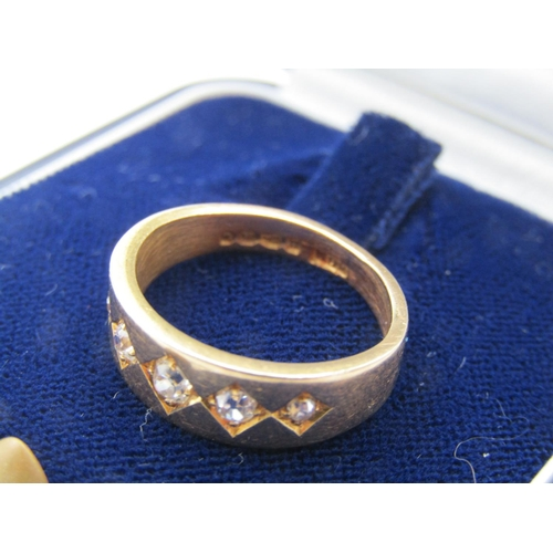 59 - Five Stone Ladies Diamond Ring Mounted on 18 Carat Yellow Gold Ring Size K Diamonds Chanel Set