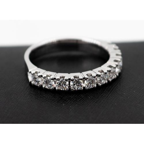 6 - Ladies Half Eternity Diamond Ring Size N Diamonds of Good Bright Clear Colour