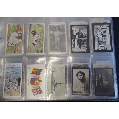 2 - Coln. of part set sand type cards, in an album, in variable cond., incl. W.O. Bigg Life on Board a M...