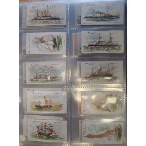 4 - Shipping themed collection in an album, in mixed condition with Clarke Marine Series (4), Gallaher B...
