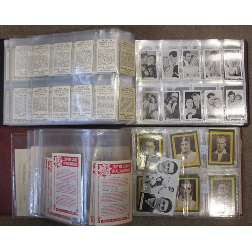 6 - Coln. of complete and part sets, in albums, in variable cond., incl. Ardath British Born Films Stars...
