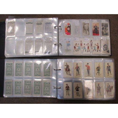 8 - Coln. of mainly part sets and type cards, in 4 albums, in variable cond., incl. Adkin Character Sket...