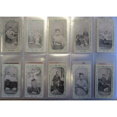 9 - Coln. of mainly complete sets, in an album, in variable cond., incl. Cohen Weenen Nations (non-descr...