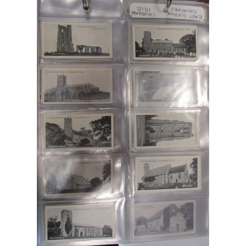 11 - Coln. of complete and part sets, in 10 albums, in variable cond., with Churchman East Suffolk Church...