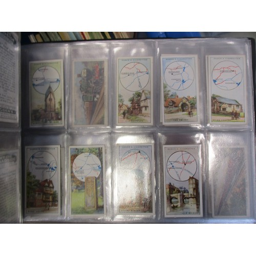 14 - Coln. of complete and part sets, in 4 albums and loose with Carreras Raemakers War Cartoons set, Ogd...