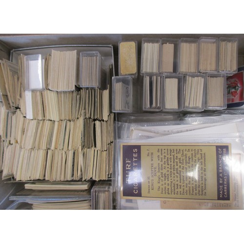 15 - Coln. of complete and part sets, in albums and loose, in variable cond., incl. Drapkin Soldiers and ...