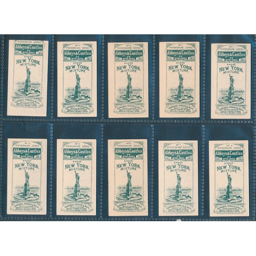 21 - Edward, Ringer & Bigg. 1912 Abbeys & Castles (New York back) set, in very good to excellent cond. Ca...