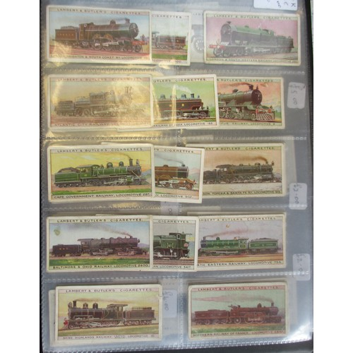 23 - Lambert & Butler. Coln. of complete and part sets, in an album, in variable cond., incl. Empire Air ...