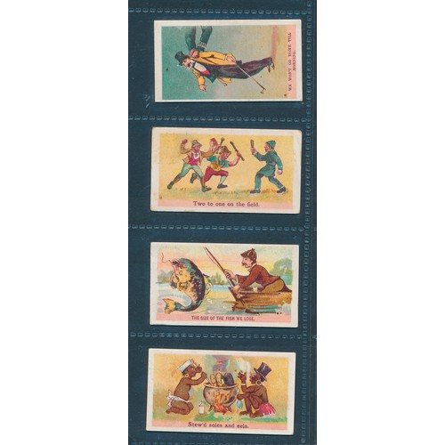25 - Rutter. 1905 Comic Phrases, part set of 44 cards, in fair to good cond., with odd better card, most ...