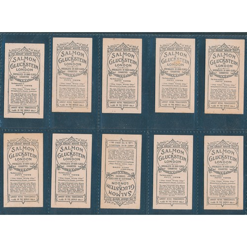 26 - Salmon & Gluckstein. 1908 The Great White City, part set of 20 cards, in good cond. Cat. £340 (See p...