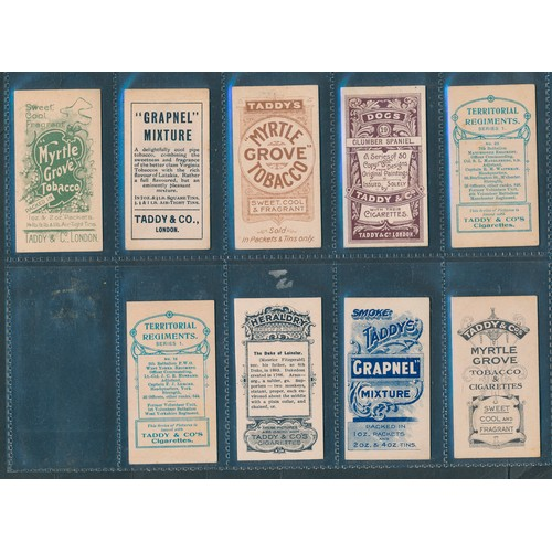 28 - Taddy. Range of type cards, in variable cond., with Actresses Collotype (1), Autographs (1), British...