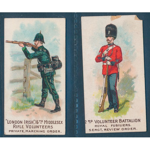 29 - W.H. & J. Woods. 1902 Types of Volunteers & Yeomanry, part set of 22 cards, in good to very good con...