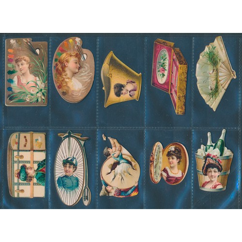 30 - Kinney. 1888 Novelties (Die Cut), complete set of 75 cards, in very good to excellent cond. Cat. £1,...