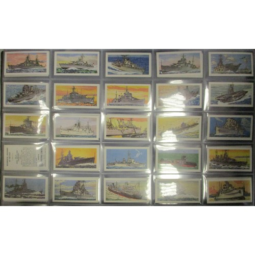 31 - Coln. of complete sets, in 7 large albums and loose, in variable cond., incl. Allen's Cricketers (12...