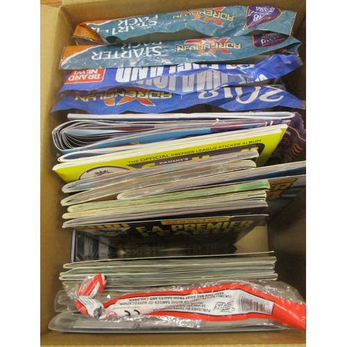 34 - Large collection of modern trade cards in 18 boxes, complete and part sets in albums, tins etc, most...
