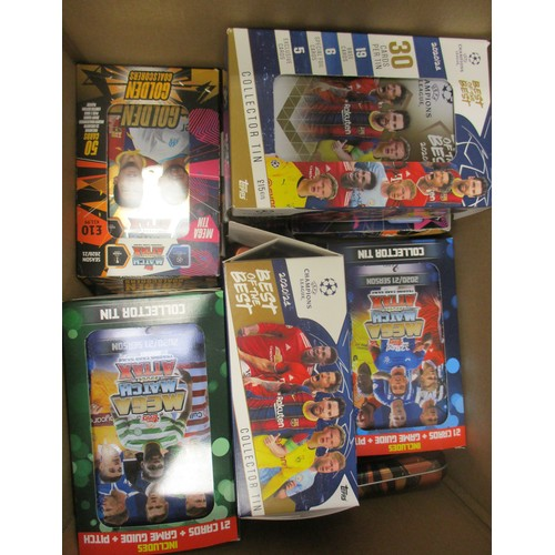 37 - Topps Match Attax. Huge collection of complete and part sets, contained in trade boxes (all opened),...