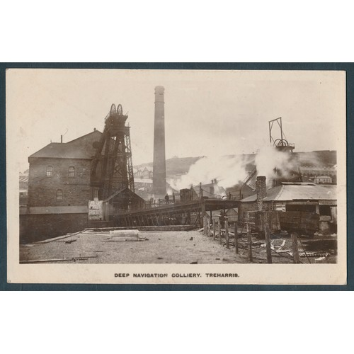 49 - Misc. coln. in 3 old albums and loose. RPs noted incl. Treharris deep navigation colliery (see photo...