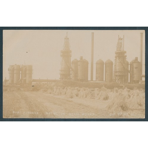 53 - Misc. coln. of loose cards with RPs of Partington steel and iron works (4 see photo), Romsey, Blythe...