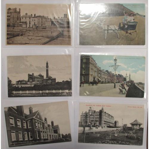 47 - Misc. coln. in modern album. General topo. incl. better cards of Ashbourne Royal Oak Hotel, Aldersho...