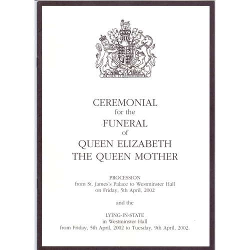 31 - Great Britain Royal ephemera, May 2013 Opening of Parliament, Queen Mother Funeral etc....