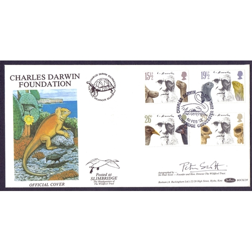 43 - Peter Scott Signed Benham FDC for Charles Darwin...