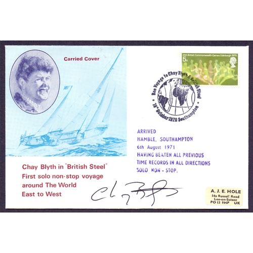 44 - Chay Blyth signed Sailing cover, round the World East to West...