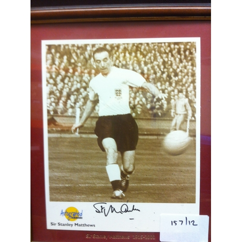 50 - SIR STANLEY MATHEWS signed photo, framed and glazed. produced by ''Autographed Editions''....