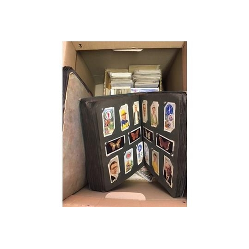 42 - CIGARETTE CARDS : MIxed box of various Cigarette cards, mainly appear to be part sets, still worth a...