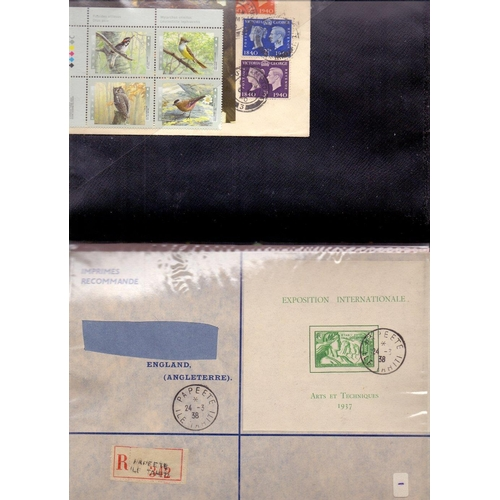 16 - STAMPS : Small Album of minisheets and FDC's, Jamaica, New Zealand Swaziland etc....