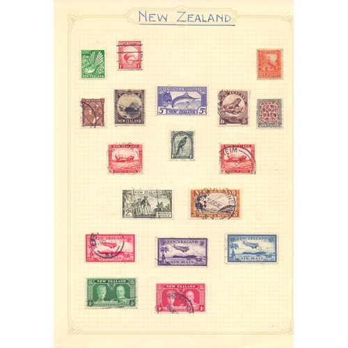 13 - STAMPS : CHARITY, NEW ZEALAND Green simplex album of mainly used New Zealand stamps plus a few Great...