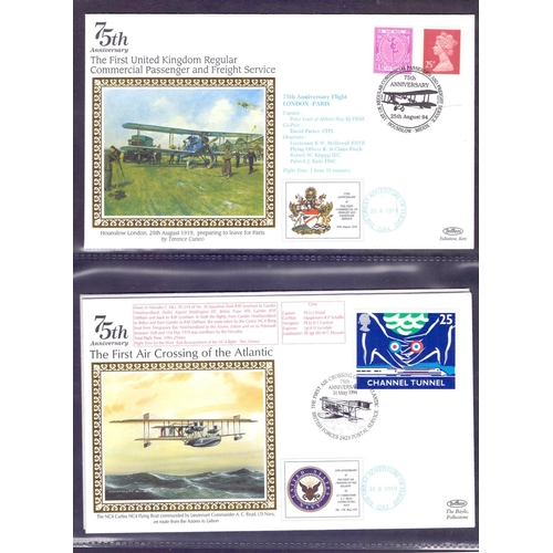 36 - POSTAL HISTORY : Album of special event covers plus a few RAF . Plus Chelsea Flower show covers....