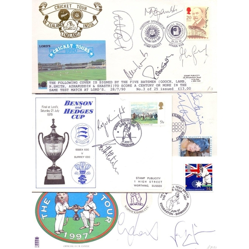 46 - CRICKET : small batch of signed covers, Mike Atherton, Nasser Hussain, Alan Lamb, Graham Gooch etc (...
